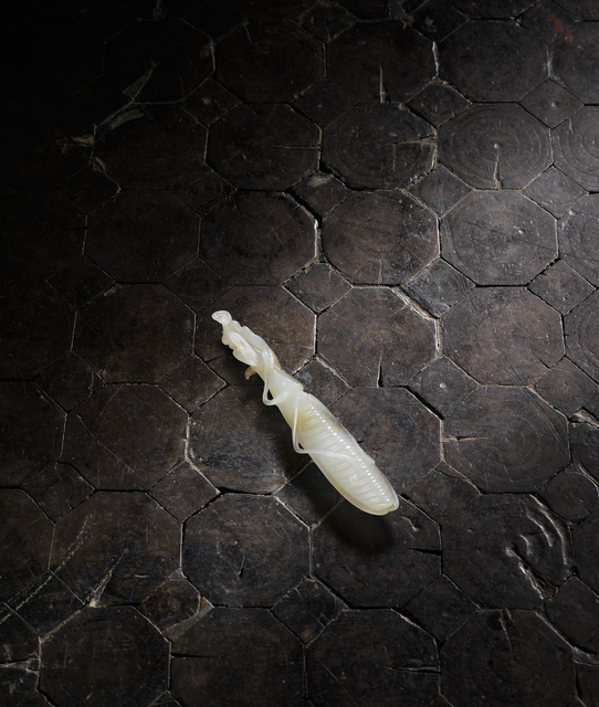 Unknown Chinese, 'A russet-skinned white jade model of a praying mantis 白玉帶皮螳螂', 1736-1795, Rasti Chinese Art