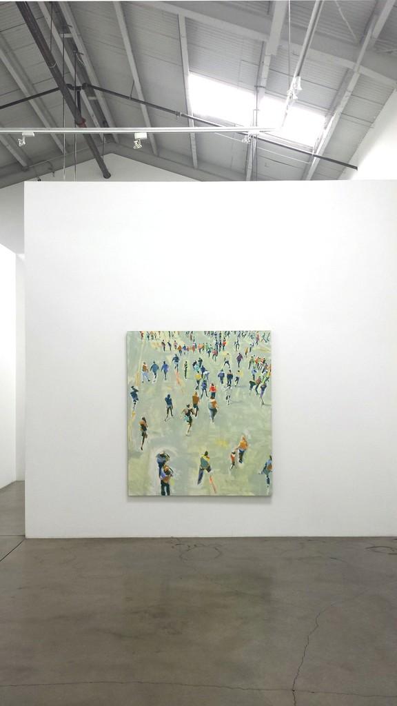 "David Kapp, ""New Work"" installation ""Ticket Lines II,"" 2014, Oil on linen, 70"" x 60"""
