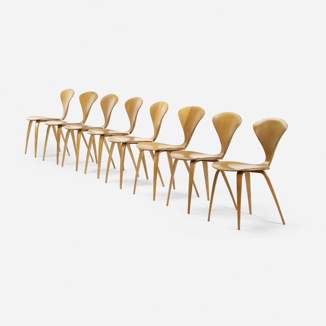 Norman Cherner, 'dining chairs, set of eight', 1958, Rago/Wright