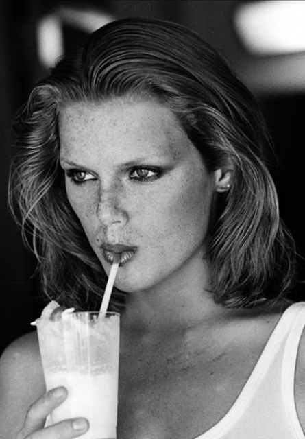 Arthur Elgort, 'Patti Hansen Sipping from a Straw, American VOGUE', 1975, Photography, Staley-Wise Gallery