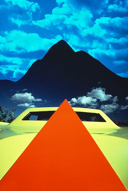 Mitchell Funk, 'Orange Pyramid Yellow Car Black Pyramid Mountain', 1978, Robert Funk Fine Art