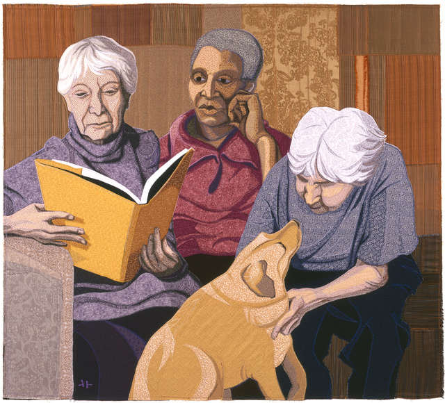 , 'Three Women with Dog,' 2006, Mitchell • Giddings Fine Arts