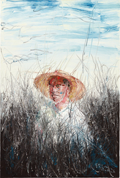 A Man with a Straw Hat