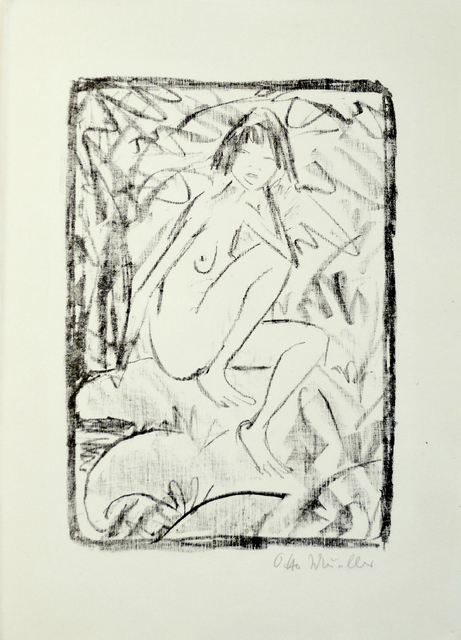 , 'Seated Woman, Surrounded by Foliage,' 1923, C. Grimaldis Gallery