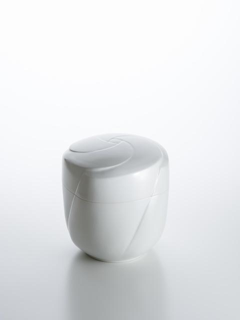 ", 'Sculpted White Porcelain ""Pinwheel"" Lidded Box,' 2018, Onishi Gallery"