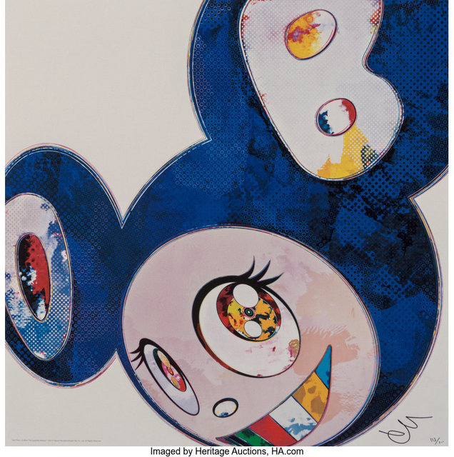 Takashi Murakami, 'And Then x 6 (Blue: The Superflat Method)', 2013, Print, Offset lithograph in colors on smooth wove paper, Heritage Auctions