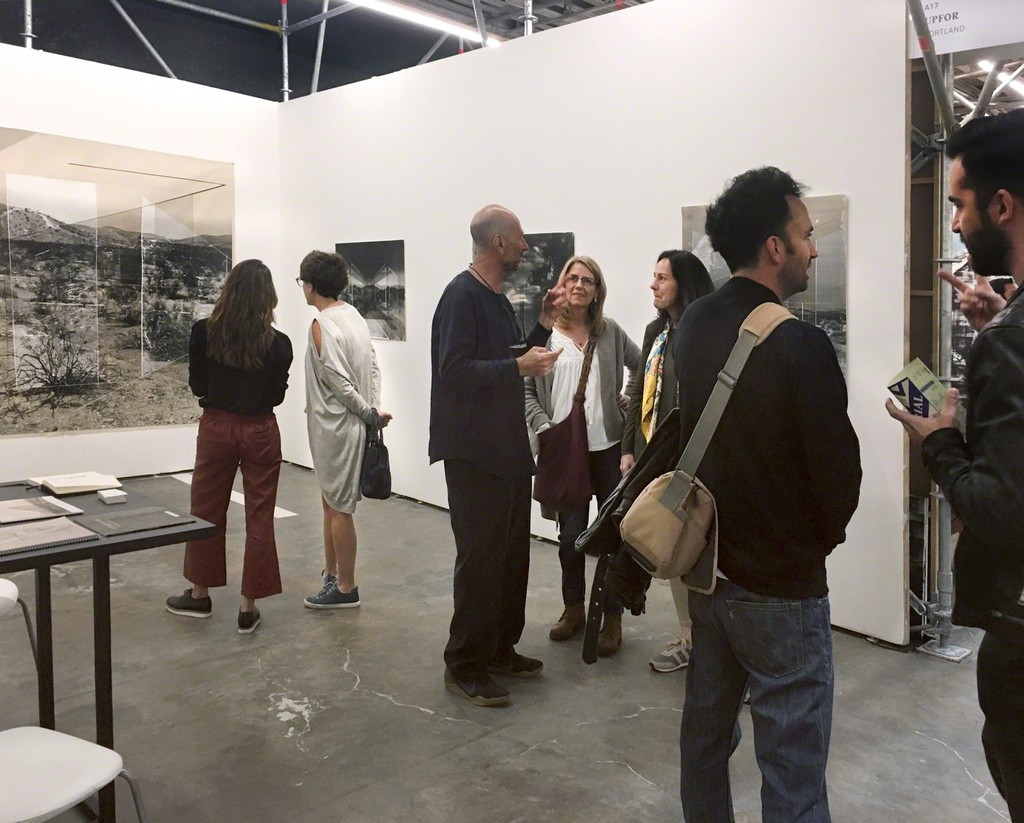 The first day of Material Art Fair with works by Rodrigo Valenzuela.