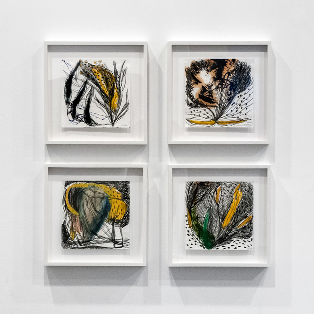 , 'Installation view of four untitled works on paper,' 1997, Art Projects International