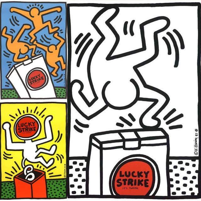 Keith Haring, 'Keith Haring Lucky Strike 1987: Set of 3 ', 1987, Lot 180