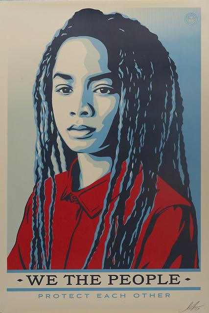 Shepard Fairey, 'We the People', 2017, Print, Three screenprints in colors, Rago/Wright