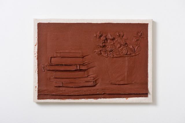 , 'Shelf with Books and Plant,' 2018, Moskowitz Bayse