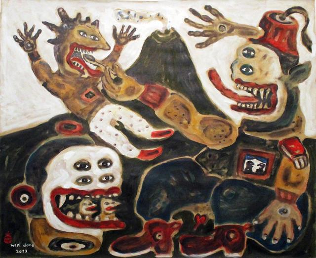 Heri Dono, 'Raja yang menyuapi Anaknya (The King Has Given Food to His Son)', 2013, Tyler Rollins Fine Art