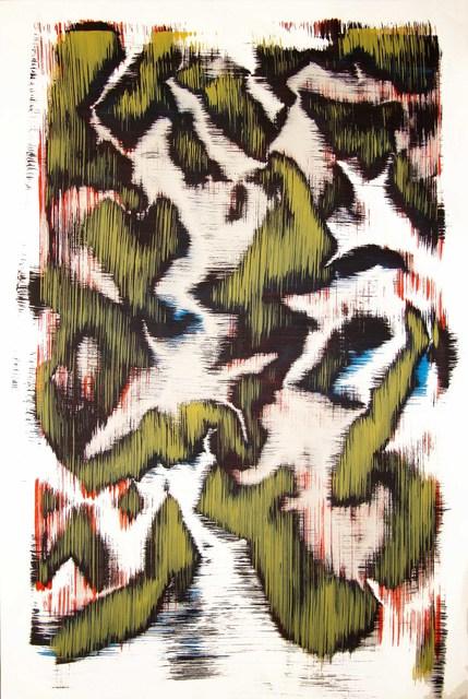 Sergio Barrera, 'Antigesture (rhizomes). P10', 2018, Painting, Acrylic on Canson paper, SET ESPAI D'ART