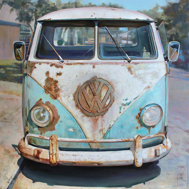 , 'Rust Bus,' 2015, Sue Greenwood Fine Art