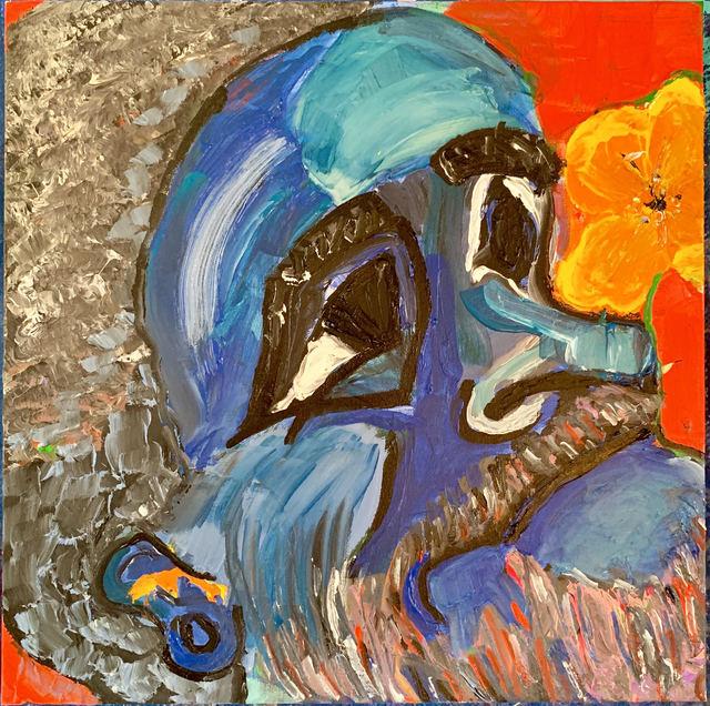 Tania Alvarez, 'Cholo in Blue', 2019, Asher Grey Gallery