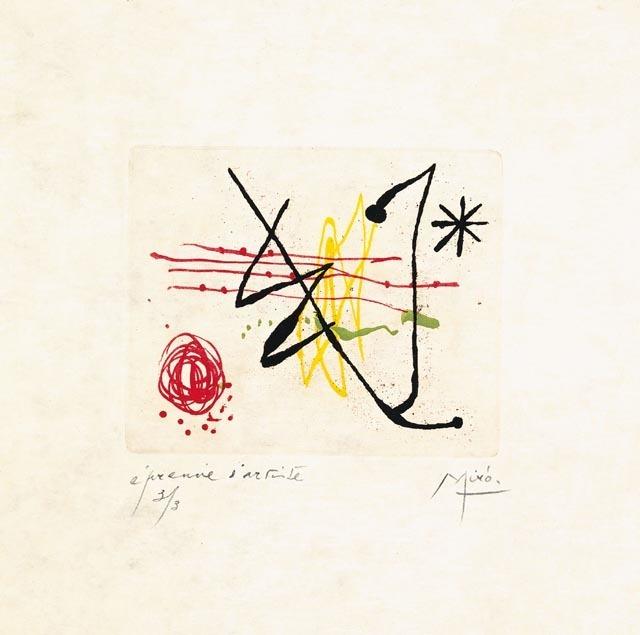 Joan Miró, 'Suite La Bague D'Aurore - plate 8', 1957, Galerie Maximillian