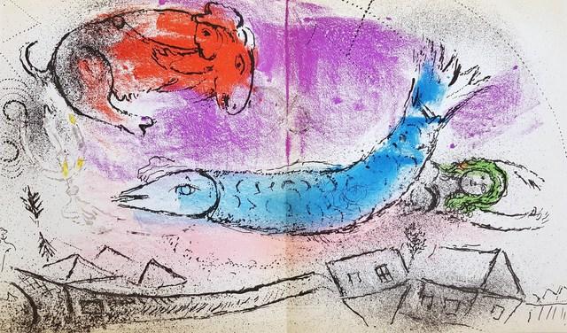 Marc Chagall, 'The Blue Fish', 1957, Graves International Art