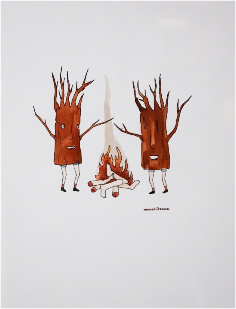 Marcel Dzama, 'Untitled (Trees),' ca. 1999, Galerie BAC