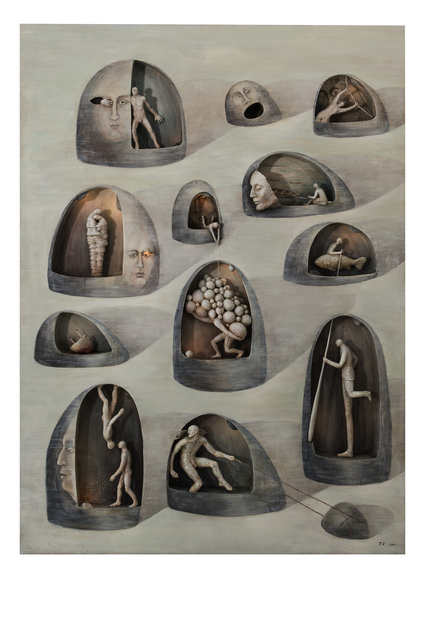 , 'Cave Tellers,' 2017, Galerie Kornfeld