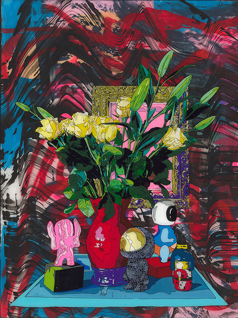 , 'Still life with red vase,' 2019, WORLDART