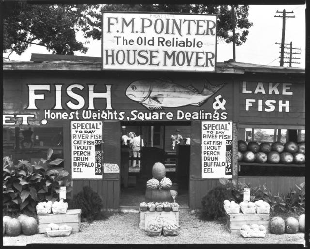 , 'Fish Market Near Birmingham, Ala.,' 1936, Robert Mann Gallery