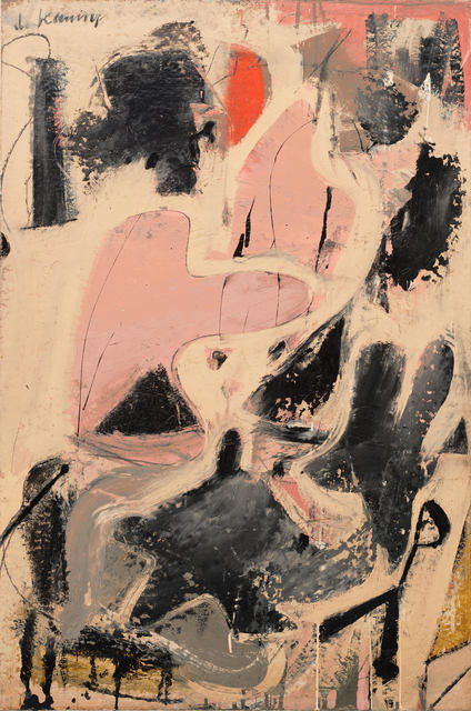 Willem de Kooning, 'Valentine', 1947, Painting, Oil and enamel and paper on board, Tate Liverpool