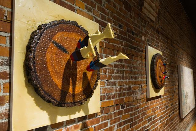 , 'EDNA: Bullseye (Salmon),' 2015, Mark Moore Fine Art