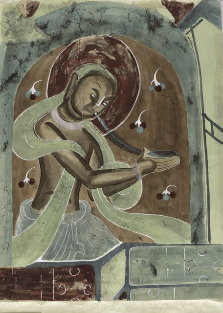 , 'Celestial musician with flute,' 1958-1963, Seattle Art Museum