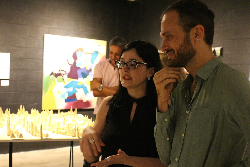 Artist Liene Bosquê with a guest.