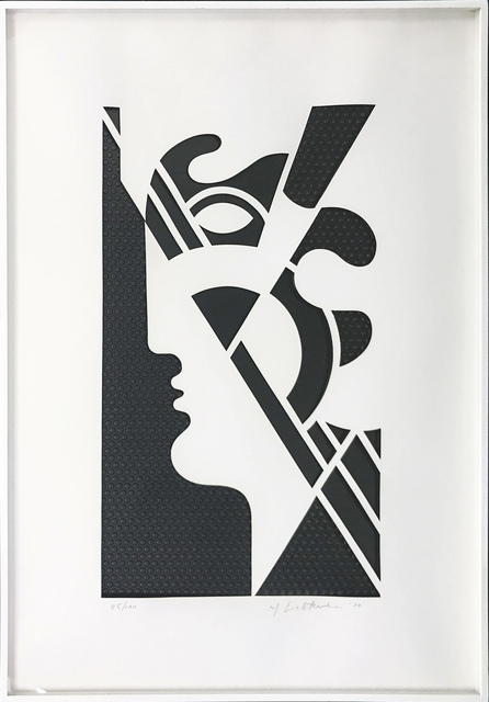 Roy Lichtenstein, 'MODERN HEAD #5', 1970, Print, EMBOSSED GRAPHITE WITH DIE-CUT PAPER OVERLAY, Gallery Art