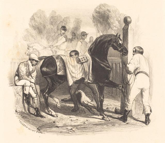 Célestin Nanteuil, 'Horse before the Race', National Gallery of Art, Washington, D.C.