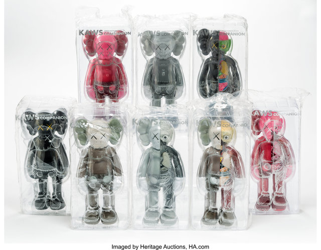 KAWS, 'Companion, set of eight', 2016, Other, Painted cast vinyl, Heritage Auctions