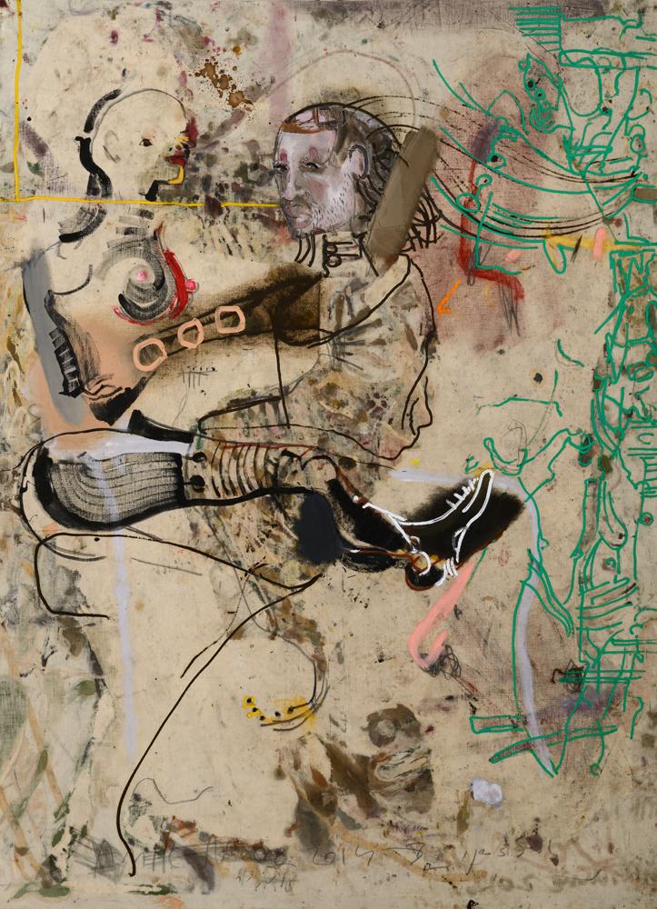 Untitled (Vertigo), 2014 Oil and graphite on canvas