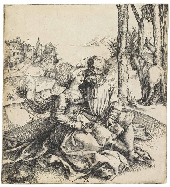 , 'The ill-assorted Couple (B. 93; M., Holl. 77; S.M.S. 3),' ca. 1495, Christie's Old Masters