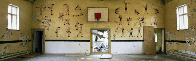 , 'Deserted sports hall at a Soviet army base in East Germany.,' 2007, Anastasia Photo