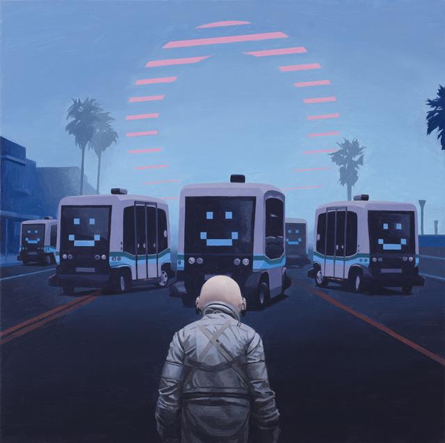 , 'Self Driving Buses,' 2018, Spoke Art