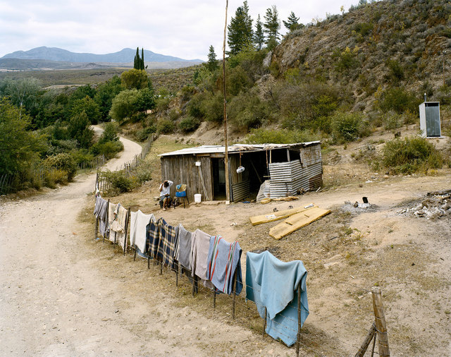, 'Sarie Fink doing her hair, Kleine River, Buffelsdrif, Western Cape,' 2004, Goodman Gallery