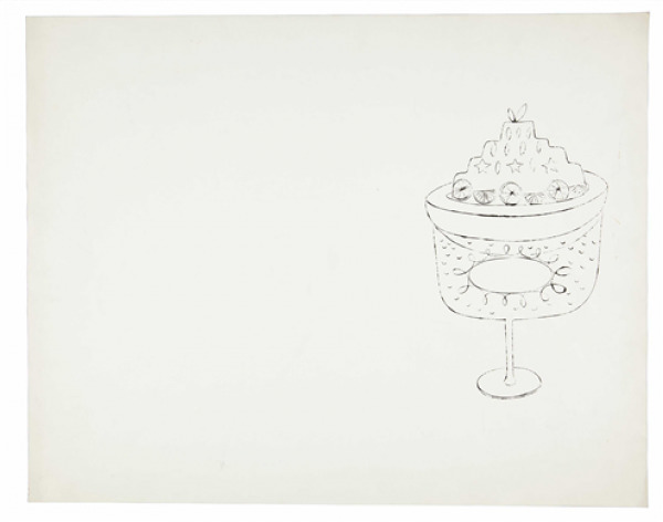 Andy Warhol, 'Untitled (From Wild Raspberries)', 1959, Drawing, Collage or other Work on Paper, Ink on paper, Dean Borghi Fine Art