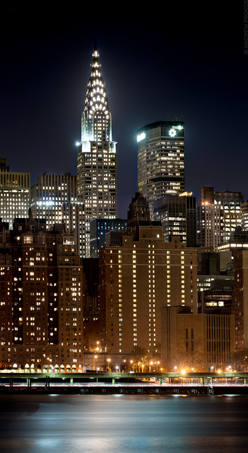 Andrew Prokos, 'Panoramic View of Manhattan and Chrysler Building at Night - Vertical', 2019, Andrew Prokos Fine Art Photography