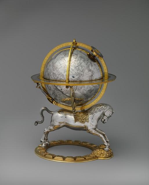Gerhard Emmoser, 'Celestial globe with clockwork', 1579, The Metropolitan Museum of Art