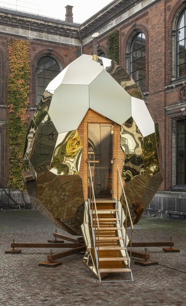 'Solar Egg' by Bigert & Bergström for Riksbyggen (2017). Kunsthal Charlottenborg, Copenhagen (2018). Photo: Anders Sune Berg.