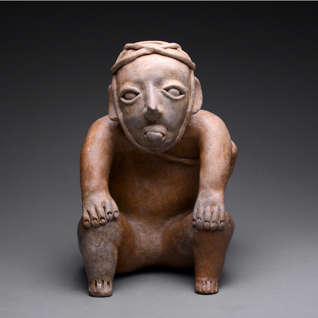 Jalisco, Mexico, 'Ameca-Ezatlán Style Jalisco Sculpture of a Seated Man', ca. 300 BC to 300 AD, Barakat Gallery