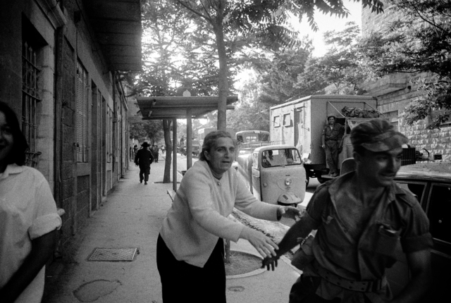 Micha Bar-Am, 'Chance Encounter (soldier departing for front in Six Day War encounters his mother)', 1967, Vision Neil Folberg Gallery