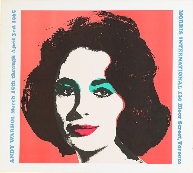 Andy Warhol, 'Liz Taylor (Morris International)', 1965, Print, Color poster on card stock, Rago/Wright