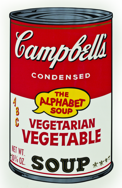 Andy Warhol, 'Soup Can, Vegetarian Vegetable,' 1964, Harn Museum of Art