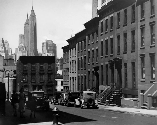 ", 'Willow and Poplar Streets (from the series ""Changing New York""),' 1936, Bookstein Projects"