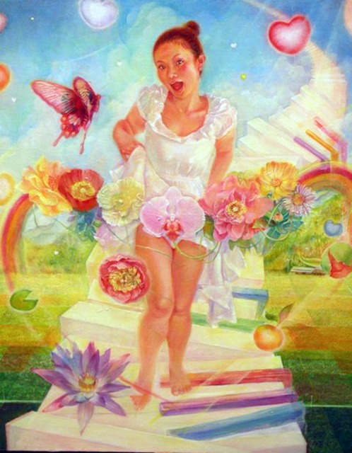 Asuka Ito, 'What a Wonderful Life!', 2008, Painting, Acrylic on canvas, Japigozzi Collection