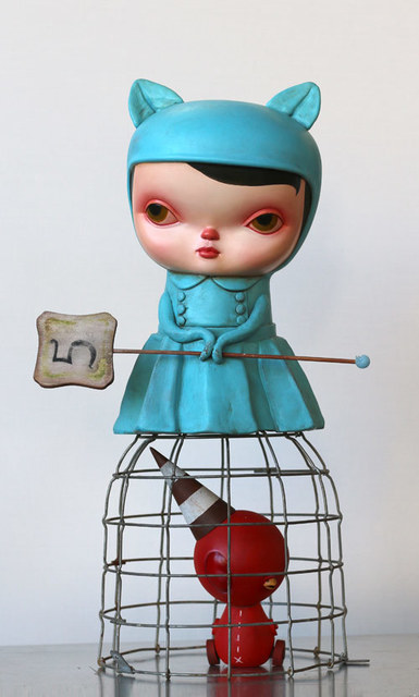 , 'Blue Cat Lizzie with Red Bird,' 2015, AFA Gallery