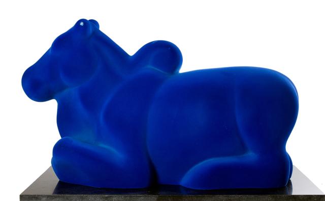 Arunkumar H. G., 'Nandi in blue', 2008, Sculpture, Velvet on fiberglass, Museum of Art & Photography