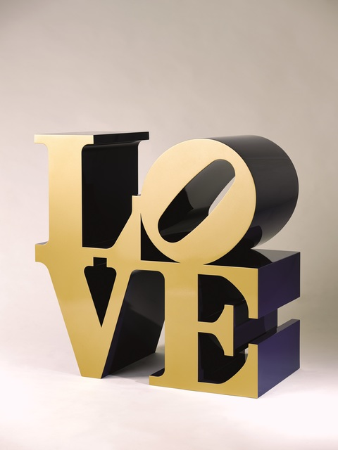 , 'Love (Gold faces – Bleu sides),' Conceived in 1966 and executed in 2000, Opera Gallery